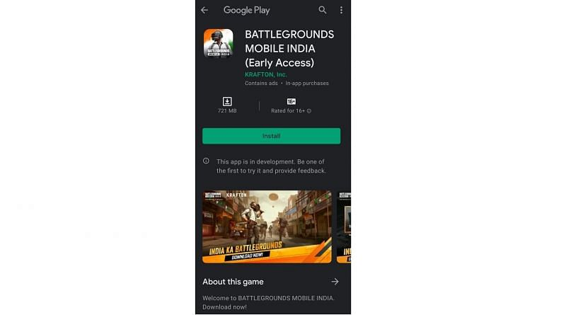 early access battleground mobile india